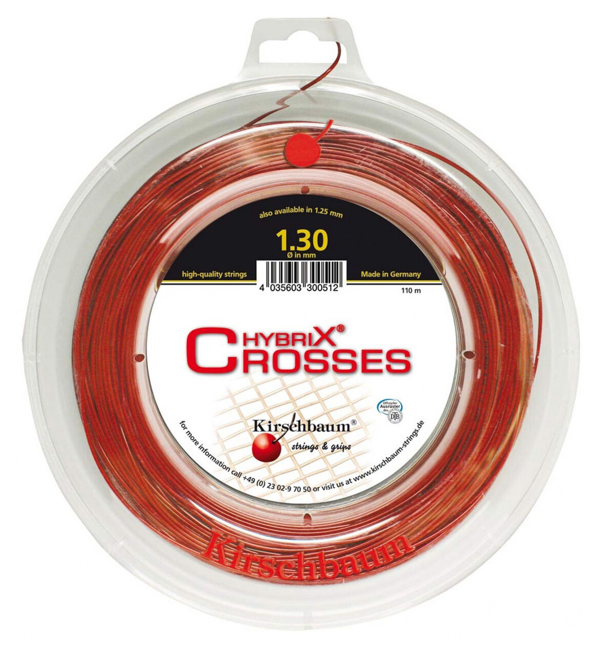 Kirschbaum HYBRIX Power Croci Tennis Stringa 110m REEL