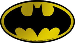 15989 Batman SHINY GOLD CHROME Logo Bat Signal Comic Movie FOIL Sticker Decal