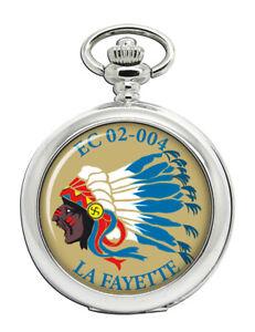 Escadron-De-Chasse-5-1-10-2cmLa-Fayette-034-Franzoesisch-Air-Force-Taschenuhr