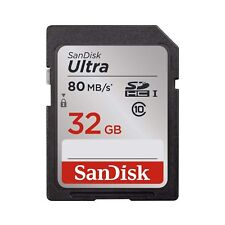 1pcs SDSDUNC-032G-GN6IN 5x Genuine SanDisk Ultra 32GB Class 10 SDHC Flash Memory Card Up To 80MB//s Memory Card with slim memory card case Pouch 5pcs