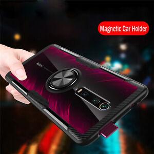Per-Xiaomi-Mi-9T-9-se-LUSSO-Pro-magnetico-anello-titolare-Ibrido-Chiaro-PC-CASE-COVER