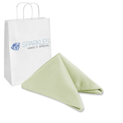 """250 pcs 17/""""x17/"""" or 20/""""x20/"""" Polyester Cloth Linen Dinner Napkins w or w//o Rings"""