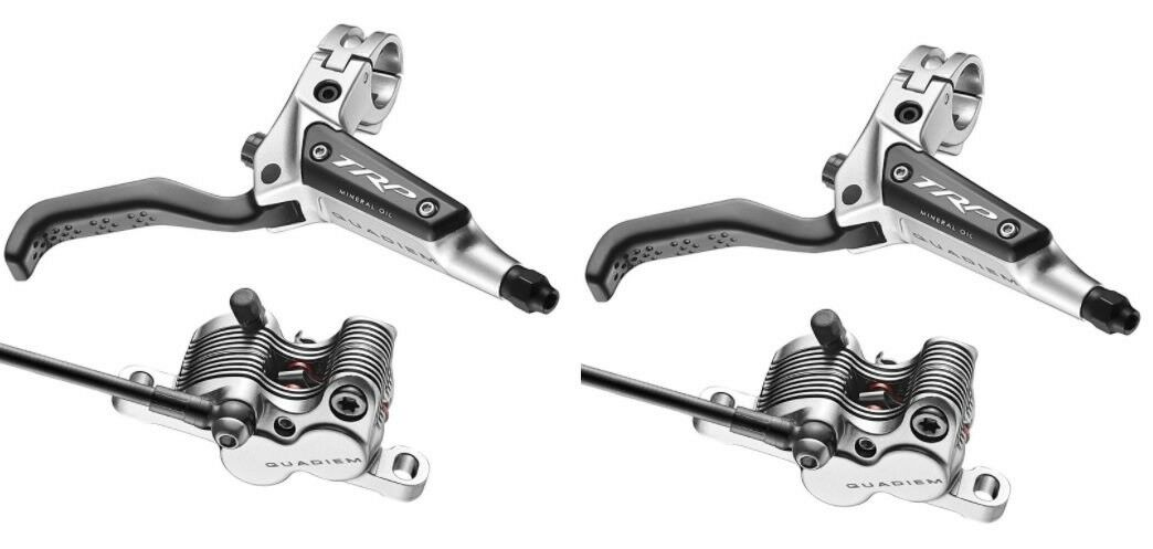 TRP Hydraulic Quadiem Front & Rear Brake Set w  Levers, Calipers, & Hose