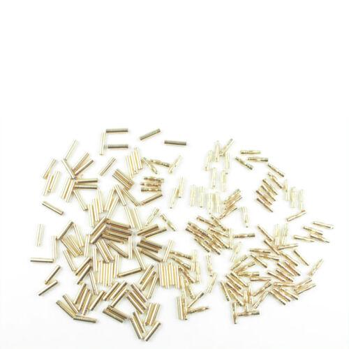 Goldkontaktstecker und Buchse kurz L 2.0 mm 100 Paar Hype 086-1125 700598