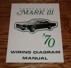 1970 lincoln continental mark iii wiring diagram manual 70 ebay