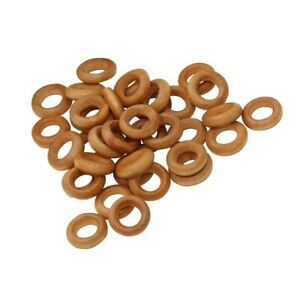 100pcs 13mm Small Wooden Rings Unfinished Wood Toss Rings Hoops DIY Crafts