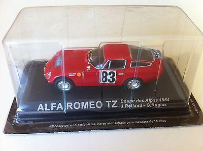 IXO ALTAYA 1//43 ALFA ROMEO TZ COUPE DES ALPES 1964 J.ROLLAND G.AUGIAS