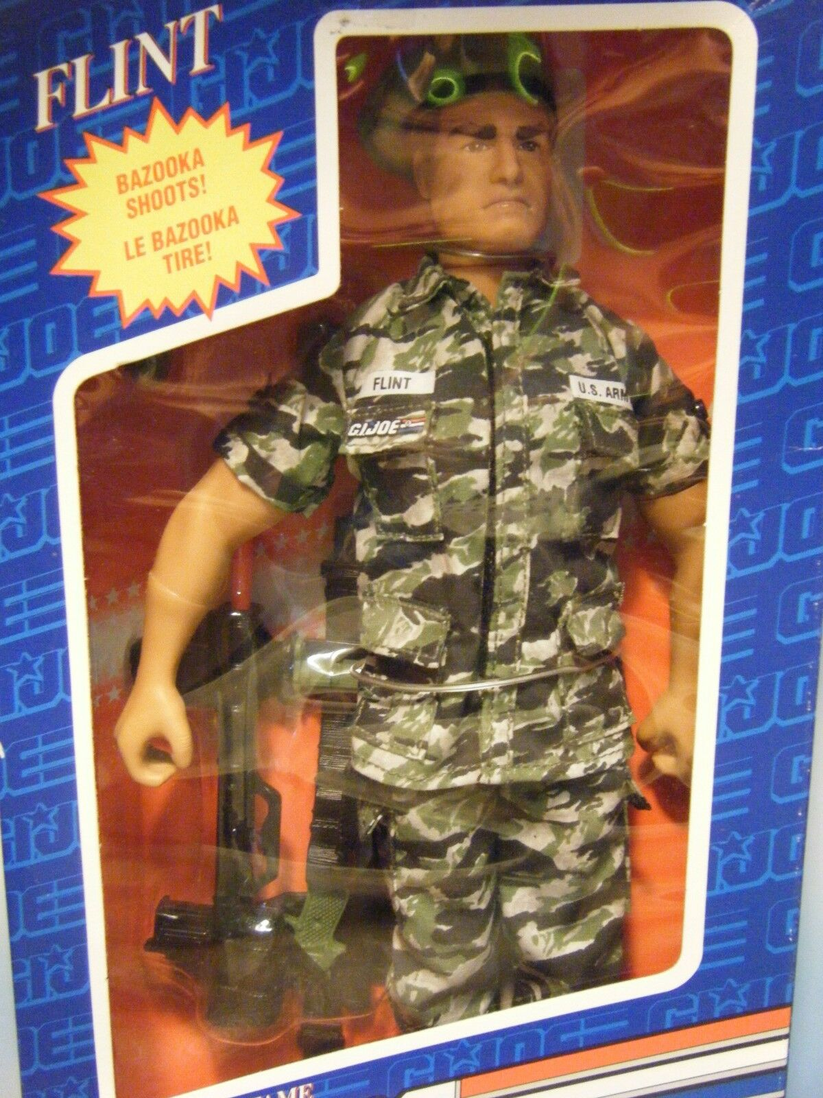 GI JOE HALL OF FAME FLINT 12  ACTION FIGURE LANGUAGE VARIANT BOX