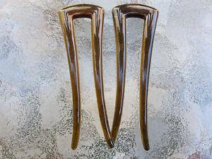 Set-of-2-Shell-SquareTop-Prong-Chignon-Hair-Pins-3-1-4-034-Length-by-Good-Hair-Days