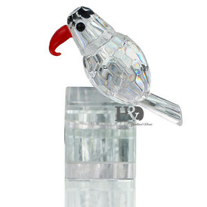 Clear-3D-Crystal-Paperweight-Animal-Facet-Woodpecker-Figurine-Glass-Wedding-Gift