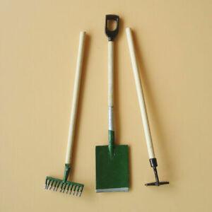 Miniature-1-12-Puppenhaus-Moebel-Gartenarbeit-Werkzeuge-G2D9-Schaufel-Reche-V8Y7