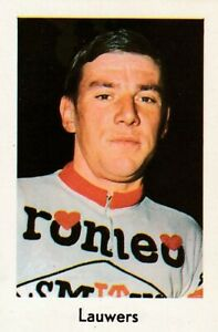 CYCLISME-carte-cycliste-JAN-LAUWERS-equipe-ROMEO-SMITH-039-S-1967-Format-9-sur-6-cm