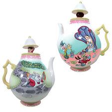 23705 RETIRED HTF Disney Alice In Wonderland 35oz Teapot Mad Hatter White Rabbit