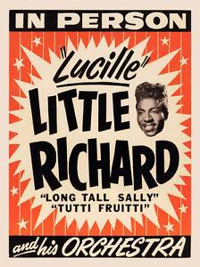 little richard rock n roll concert poster print ebay