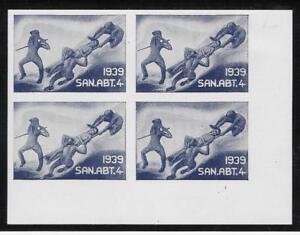 Switzerland-034-Soldier-034-stamp-Sanitats-Medical-Corps-27-Block-SAN-ABT-4-ow352