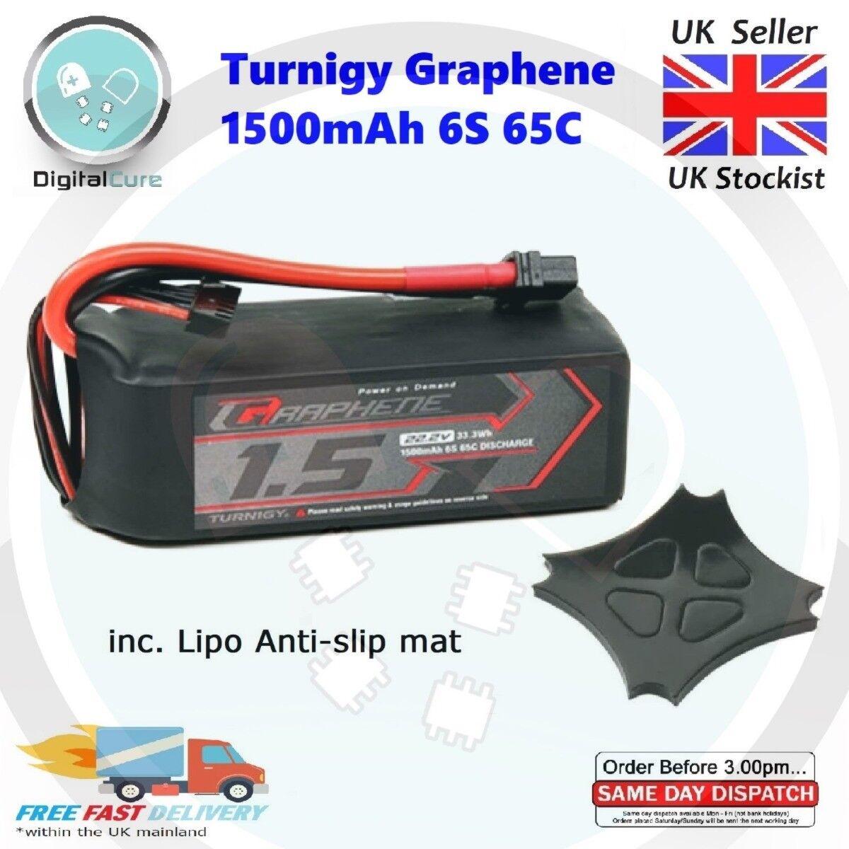 Turnigy Graphene 1500mAh 22.2V 6S 65C-130C LiPo Battery XT60-not 1800 1300 4S 5S