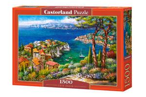 """Brand New Castorland Puzzle 1500 COTE D'AZUR 27"""" x 17.5"""" C-151776"""