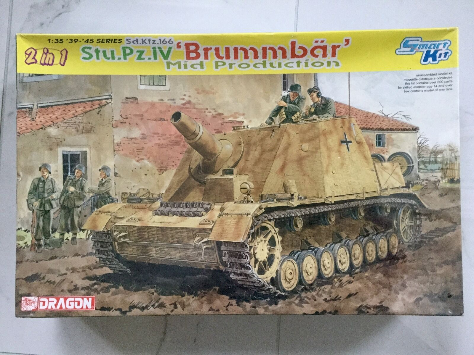 DRAGON 1 35 WW II GERMAN SD.KFZ.166 STU PZ.IV BRUMMBAR 2N1 SMART KIT F S