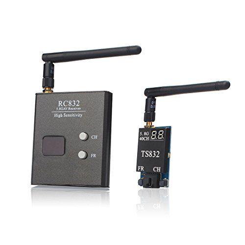 AKK TS832+RC832 5.8G 40CH 2000M Range FPV Audio Video Transmitter and Receiver