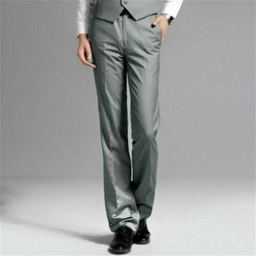 Hommes Bell Bas Pantalon 70 S rétro flare formelle robe pantalon mariage slim fit