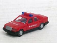 """Mercedes-Benz 260 E Einsatzwagen """"Feuerwehr"""" rot, Balken, Wiking, 1:87, o.OVP"""