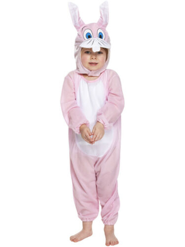 Kids Bunny Animal Rabbit Book Week Jumpsuit Fancy Dress Costumes Girls Boys New