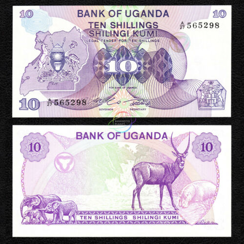 UGANDA 10 Shillings 1982 P-16 UNC Uncirculated