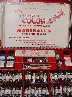 VINTAGE UNUSED MARSHALL'S MASTER SET OF PHOTO OIL COLORS AND ACCESSORIES