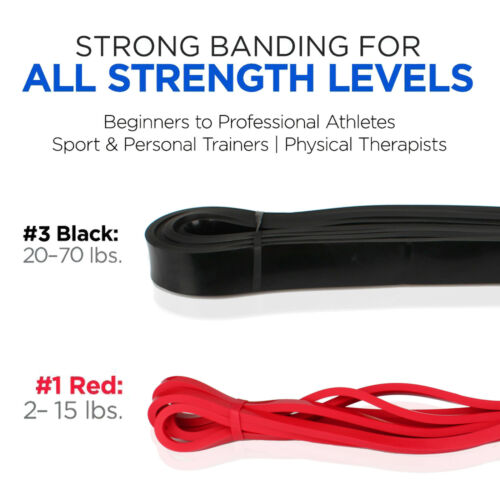 Pull Up Assist Resistance Band5 Tension Bands 2-175 lbsStrength Training