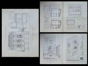 Banque De Meulan, Saint Maur -1911- Planches Architecture- Riche En Splendeur PoéTique Et Picturale