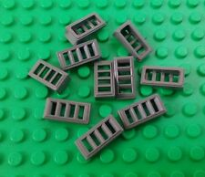 *NEW* Lego Small Grey 1x2 Grill Slope Plates Bricks Spaceships Detail 10 pieces