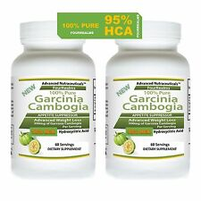 2 GARCINIA CAMBOGIA EXTRACT PLUS PURE NO FILLER 95% HCA Weight Loss Fat BURNER