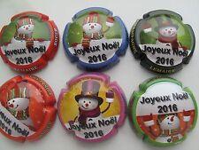 Série de  6 New capsules de champagne LEMAIRE Roger Constant Noel 2016