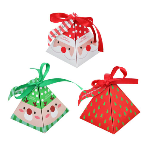 10//50x Kids Christmas Table Present Candy Gift Box Xmas Party Paper Bags Decor