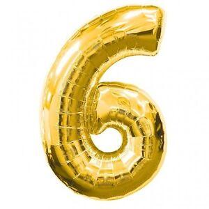 """1 X 34 """"nombre D'or '6 'feuille Décoration Ballon - (gold6)"""