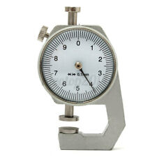 Thickness Measure Round Dial Gauge Gage Tester Leather Craft Pocket 0-10mm ODS