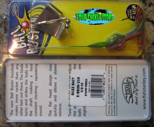 Stanley E-BB38 Ball Buster Buzzbait 3//8oz You Pick Color /& Quantity