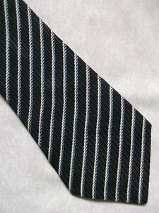 Adaptable Vintage Homme Cravate Rétro Cravate à Rayures Noir 1960 S 1970 S-afficher Le Titre D'origine PréParer L'Ensemble Du SystèMe Et Le Renforcer
