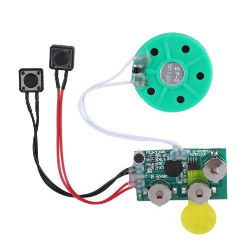 4Min Aufnahmeschip Tonaufzeichnungsmodul Sprachmodul Soundchip mit Knopfbatterie