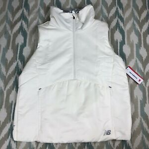 New-Balance-Women-039-s-NB-Radiant-Heat-1-2-Half-Zip-Relaxed-Vest-Off-White-Size-M