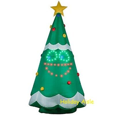 11 Ft Giant Singing Lightsync Christmas Tree Airblown Lighted Yard Inflatable Ebay