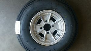 MINI-10-INCH-ALLOY-MAG-WHEEL-RIM-AND-6PLY-TYRE-SUIT-BOX-OR-BOAT-TRAILER-4-STUD