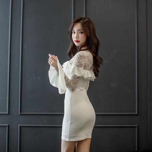 4978 Slim Trasparente Abito Vestito Tubino Bianco Donna Elegante Morbido SOzFwqf6