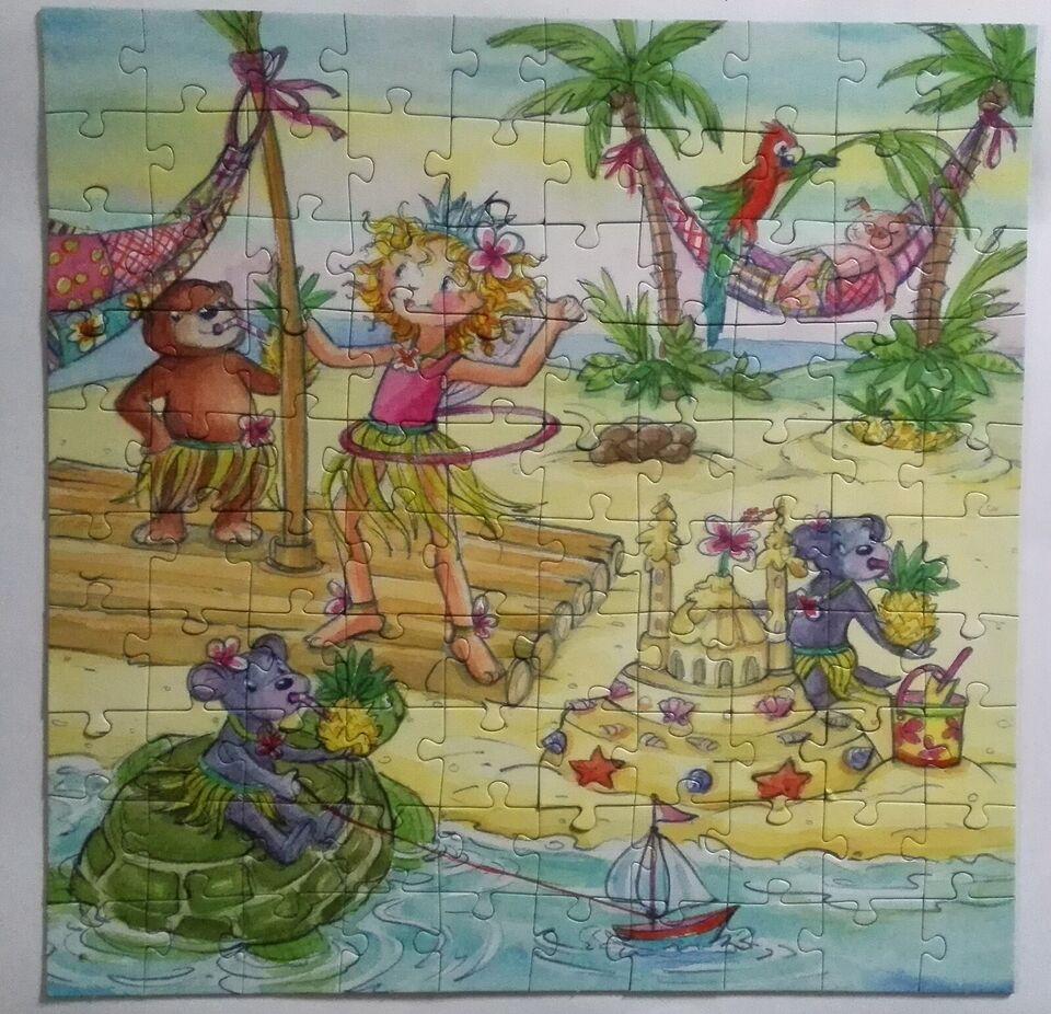 Prinsesse Lillife i sydhavet., 100 brikker , puslespil