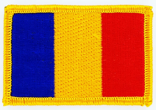 ROMANIA FLAG PATCH BADGE IRON ON NEW EMBROIDERED