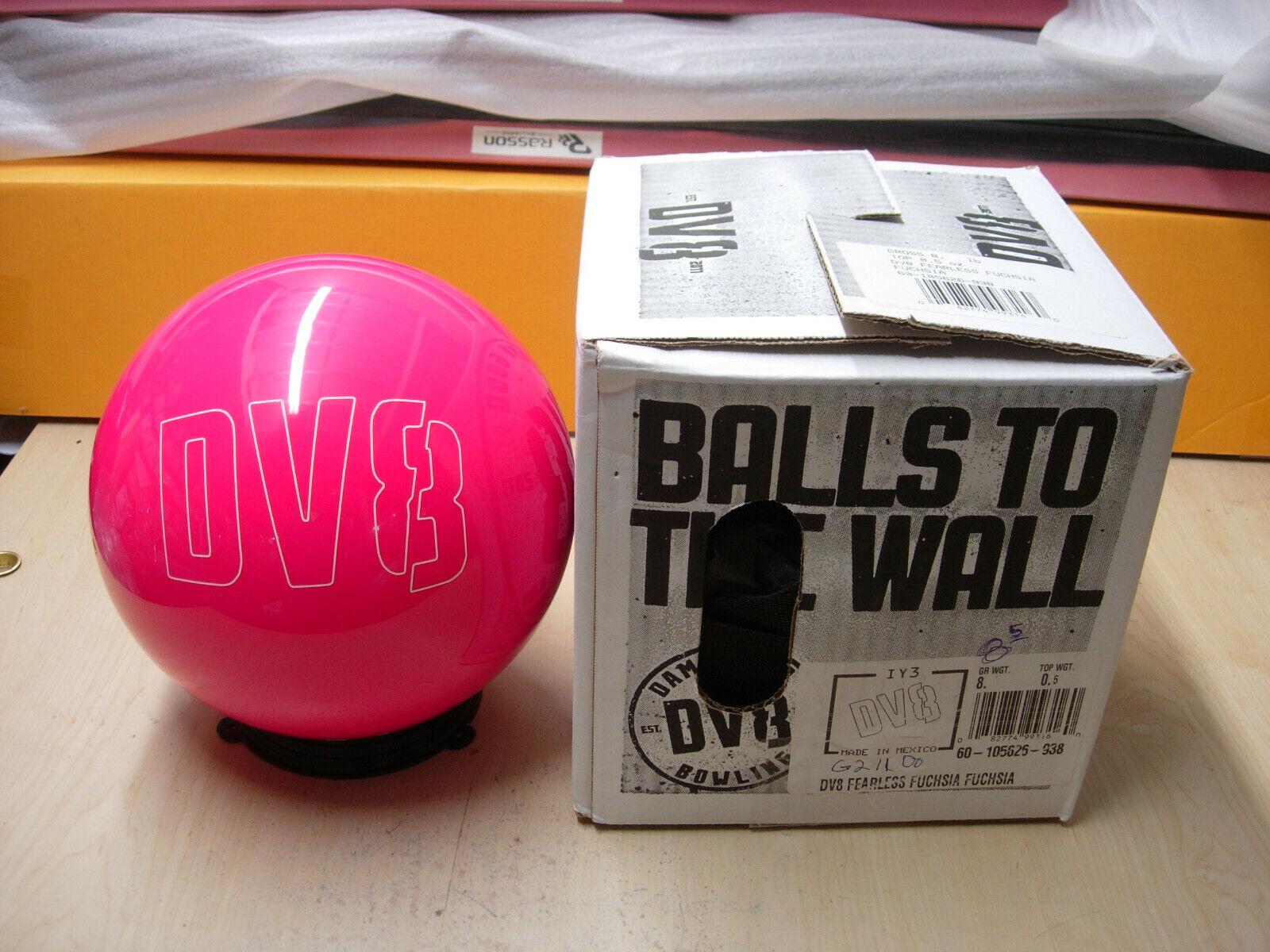 8oz,  TW .5 DV8 FEARLESS FUCHSIA FUCHSIA Polyester Bowling Ball