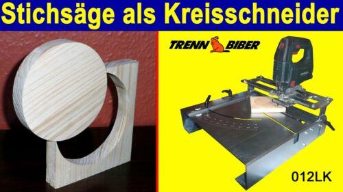 Stichsägetisch Trenn-Biber 012LK für Stichsägen auch als Kreisschneider geeignet