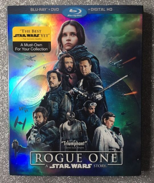 Rogue One: A Star Wars Story [2017] 2-Disc Blu-ray+DVD+Digital HD with Slipcover