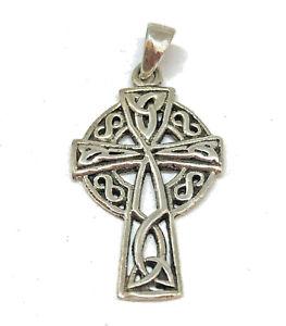 Keltisches Kreuz Anhänger 925 Sterling Silber Schmuck Neu Celtic * Gothic