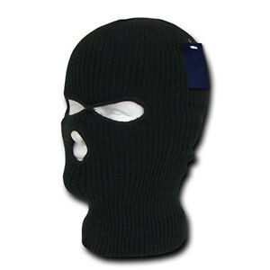 a394dc66f39 3 Hole Balaclava Mask Robbery Mask Thermal Skiing Hiking Beanie Hat ...
